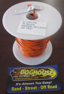 Primary wire 18 gauge orange & black striped K-Four 100'