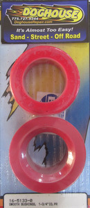 "bushing set spring plate 1 3/4"" round pair urethane Empi red"