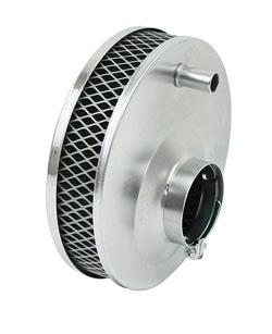 "air filter chrome for Solex 2 1/16"" 6 3/8"" R x 2 1/4"" tall Empi paper"
