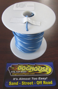 Primary wire 18 gauge blue & white striped K-Four 100'
