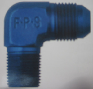 "hose fitting aluminum npt adapter 90 degree #4 x 1/8"" - FPP"