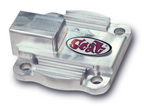 oil pump cover full flow w/o plug BILLET Aluminum Scat