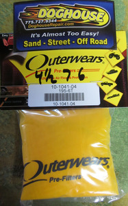 """outerwear YELLOW for 4 1/2"""" x 7"""" x 6"""""""