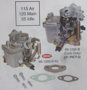 CARB & ADAPTER KIT ONLY 31 pict 3 dual arm for type 1 engines Brosol / Solex - Empi