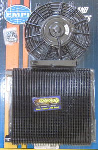 oil cooler & fan kit 96 plate cooler w/ fan - Empi