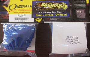 "outerwear BLUE for cone style 9002, 9004 & 8540 filters 3 1/2"" x 4"""
