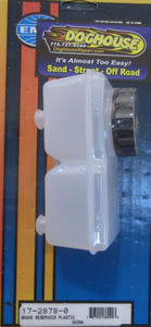 reservoir plastic for dual circuit bug or sb master cylinder top fitting Empi