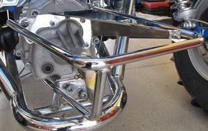 Brandwood bumper - shift linkage protection