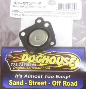 accelerator pump diaphragm small plastic pin style 32/36E/38 Empi