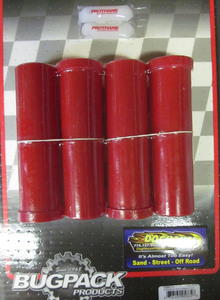 beam bushing kit inner & outer f/ steel beam w/ 46mm tubes 4 pc USA Bugpack red Empi