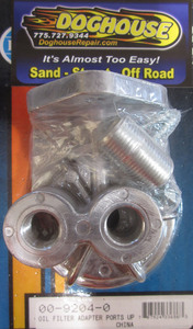 oil filter adapter kit ports face up cast Empi