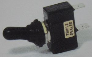 switch - toggle sealed (ON) OFF (ON) 20 amp single pole K-Four