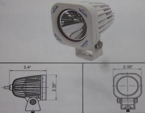 Discovery 10 watt single LED light - spot White 1 LED Marine