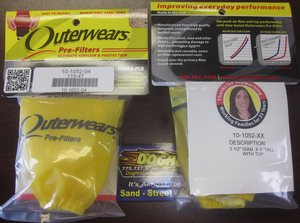 "outerwear YELLOW for cone style 9002, 9004 & 8540 filters 3 1/2"" x 4"""