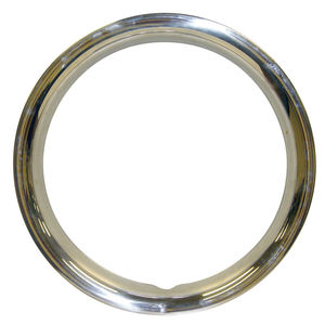 "beauty ring set of 4 stainless steel in 14"" size F/ OE steel wheels Empi"