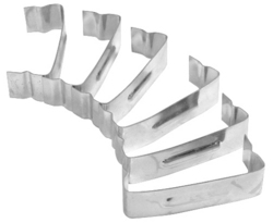 """air filter top clip set of 6 to fasten top on 1 3/4"""" tall filter"""