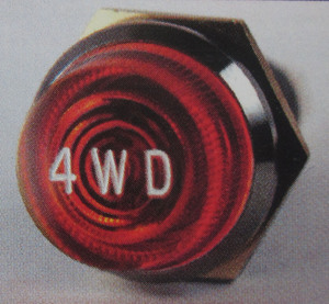 indicator warning light AMBER / NOS chrome Jumbo standard 440 K-Four