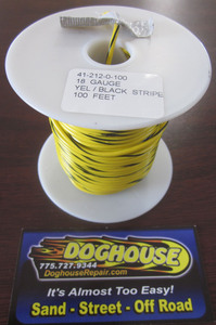 Primary wire 18 gauge yellow & black striped K-Four 100'