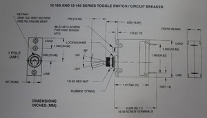 toggle switch/ circuit breaker 20 amp standard K-Four