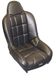 seat - Race-Trim high back super seat black vinyl & black vinyl 21