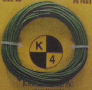 Primary wire 18 gauge green K-Four 20'