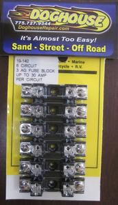 fuse block 6 circuit 30 amp AGC Break-A-Way K-Four