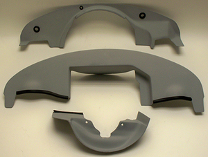 engine compartment enclosure covers FG - NH for Bergmann Porsche shroud kit use not painted