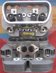 "cylinder head dual port 94 ssv, 40 x 35.5, 3/4"" plug, single springs RevMaster 58cc"