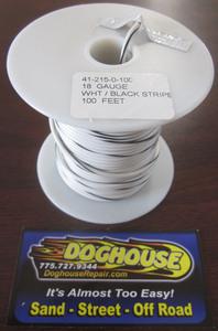 Primary wire 18 gauge white & black striped K-Four 100'