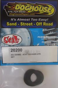 "rocker shaft shim set .027"" thick Scat"