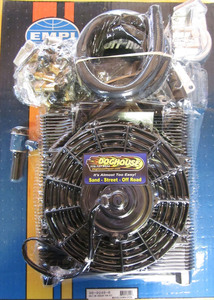 oil cooler & fan kit 96 plate cooler w/ fan - Empi full flow