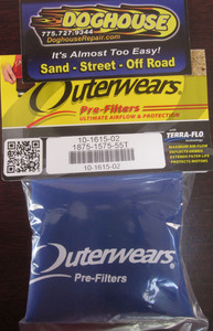 "outerwear BLUE for turbo cone 6"" x 5 1/2"" x 5"""