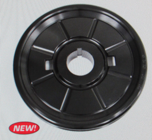 stock size pulley ANODIZED BLACK stock design look - Empi
