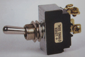 switch - toggle OFF ON (ON) CHROME lever double pole 20 amp K-Four Progressive screw