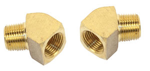 "hose fitting 45 degree 1/4"" male 1/4"" female - pair Empi"