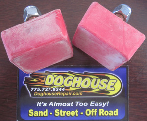 snubber PAIR urethane rectangular Empi red - out of package