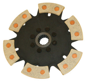 clutch disc bug 6 puck 228mm rigid for off road only - FERAMIC 18 spline - Empi