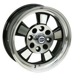 rim close 4 pattern 5 spoke Riviera style gloss black & polished alloy 15 x 5.5 Empi