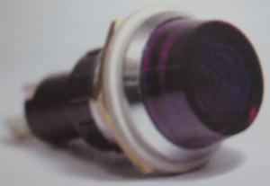 indicator warning light BLUE / chrome Jumbo standard 440 K-Four