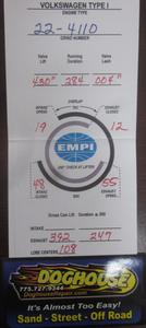 """camshaft only 430""""L x 284D 1.1 or 1.25:1 Empi"""