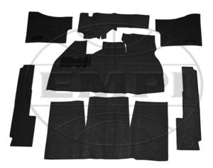 carpet kit 7 piece bug 58-68 front & rear black Empi loop footrest