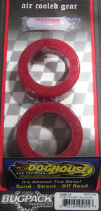 "bushing set spring plate 1 7/8"" round pair urethane IRS USA Bugpack RED Empi"