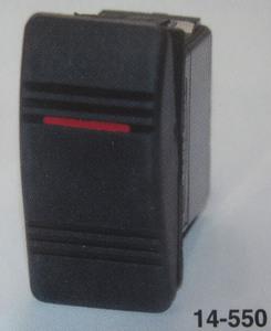 switch rocker style OFF ON 1 Amber lit 20 amp K-Four rectangular Contura III