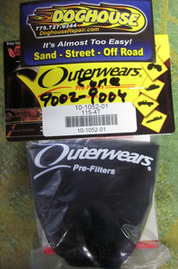 "outerwear BLACK for cone style 9002, 9004 & 8549 filters 3 1/2"" x 4"""