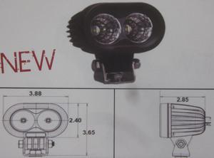 "Discovery 10 watt single row LED light - spot Black 2 LED's 4"""