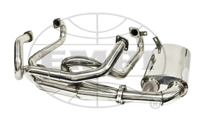 "merged exhaust system 1 5/8"" dia pipes T1 Stainless Steel Empi Sideflow premium"