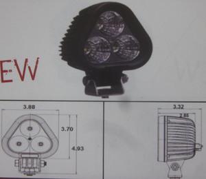 Discovery 10 watt single LED light - spot Black 3 LED's