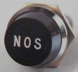 indicator warning light GREEN / NOS chrome Jumbo standard 440 K-Four