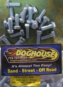 pressure plate & gas tank bolt 20mm long Silver
