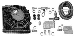 oil cooler & fan kit 96 plate cooler w/ fan - Bugpack full flow